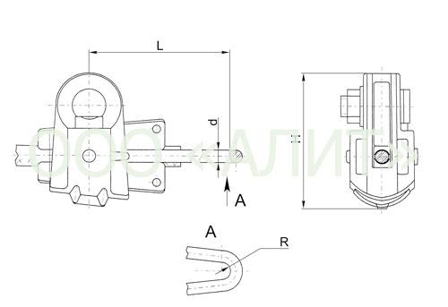 MK 2 6 - Монтажные натяжные зажимы