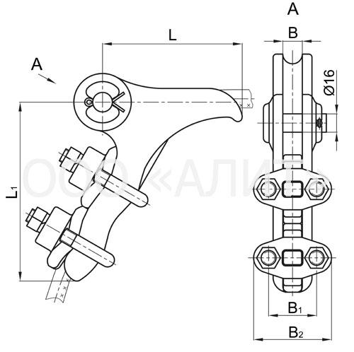 NB 2 6A - Зажимы натяжные болтовые типа НБ