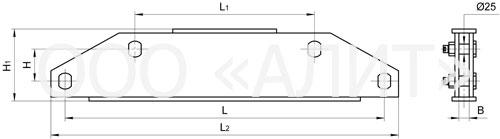 2KD21 - Коромысла двухцепные с двумя точками крепления типа 2КД2