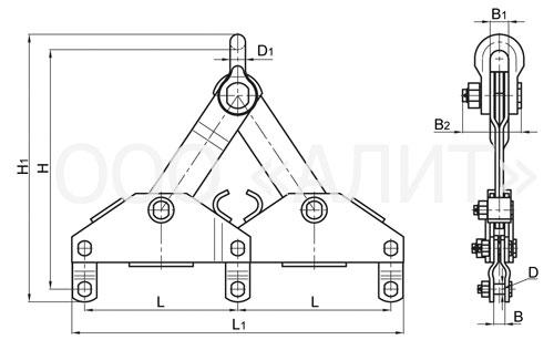 3KB2 - Коромысло типа КТ3-7-1. Коромысла типа 3КБ