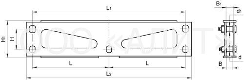 3KD23 - Коромысла трехцепные с двумя точками крепления типа 3КД2