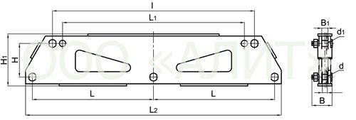 3KD24 - Коромысла трехцепные с двумя точками крепления типа 3КД2