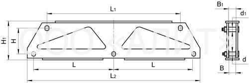 3KD25 - Коромысла трехцепные с двумя точками крепления типа 3КД2
