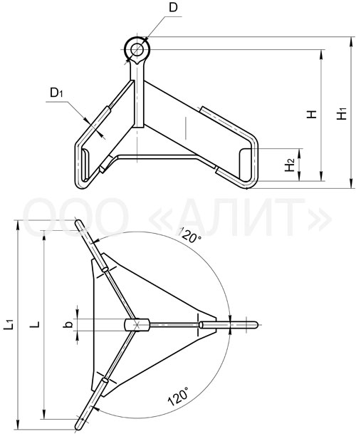 3ku1 - Коромысла трехцепные универсальные типа 3КУ