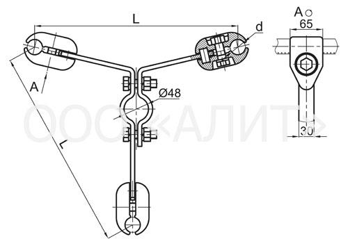 3ps6 - Распорки специальные типа РС, 2РС, 3РС