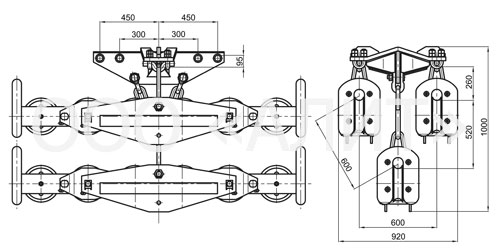 4p61 - Подвесы шестироликовые типа 3П6Р, 4П6Р, 5П6Р
