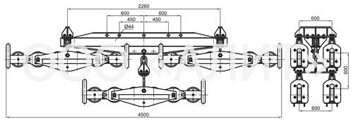 4p63 - Подвесы шестироликовые типа 3П6Р, 4П6Р, 5П6Р