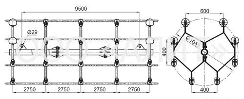 4p64 1 - Распорки специальные типа 4РС, 5РС, 6РС, 8РС