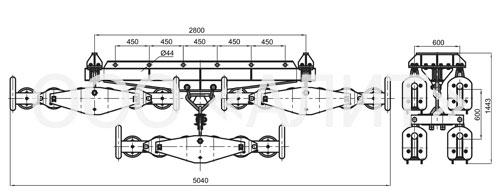 4p64 - Подвесы шестироликовые типа 3П6Р, 4П6Р, 5П6Р
