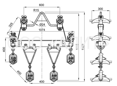 8PGN1 - Зажимы поддерживающие типа 8ПГН, 8ПГН2, 8ПГН4