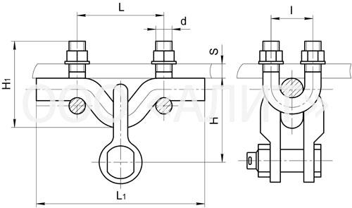 KG 124 - Узлы крепления типа КГ