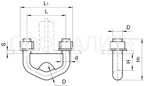 KGP4 - Узлы крепления типа КГП