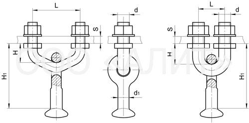 KGP5 - Узлы крепления типа КГП