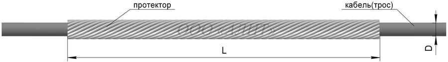 PZ Dpr 1A - Протектор спиральный защитный ПЗ-Dпр-1А