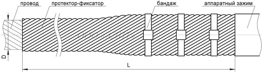 PZ Dpr 3 - Протектор спиральный защитный ПЗ-Dпр-3