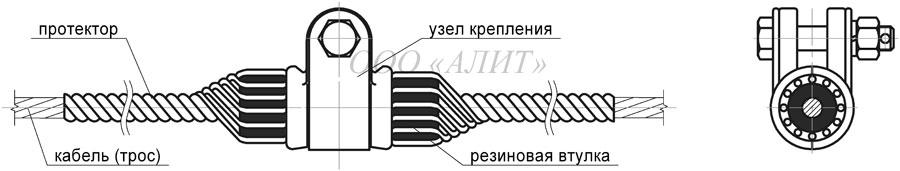 SP Dpr 4 - Зажим поддерживающий спиральный СП-Dпр-4