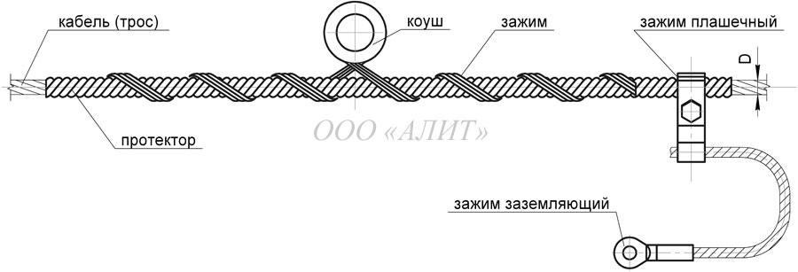 SP Dpr 5 - Зажим поддерживающий спиральный СП-Dпр-5
