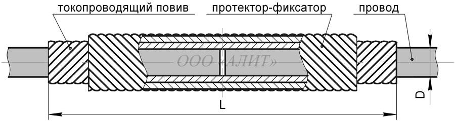 SSSH Dpr 1A - Зажим спиральный соединительный шлейфовый ССШ-Dпр-1А и ССШ-Dпр-2А