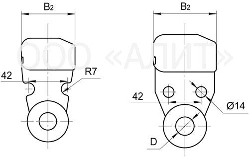 U12 - Ушки однолапчатые типа У1 и У1К