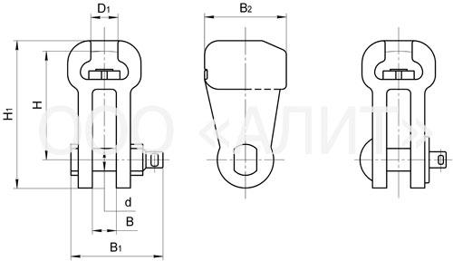 U2 - Ушки двухлапчатые типа У2 и У2К