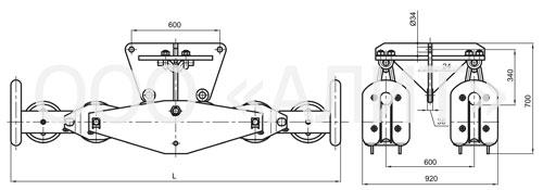 image1 13 - Подвесы шестироликовые типа 2П6Р, 3П6Р