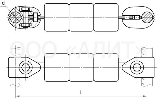 image1 3 - Распорки глухие утяжеленные для шлейфов типа РУ