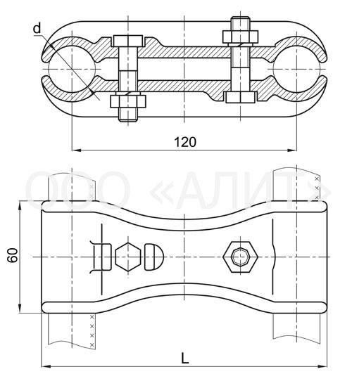 image1 7 - Распорки дистанционные Р для подстанций