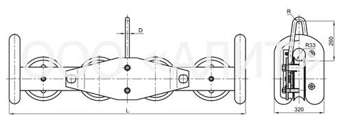 image1P4r - Подвесы многороликовые типа П4Р, П6Р