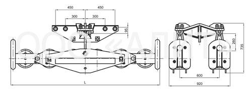 image2 4 - Подвесы шестироликовые типа 2П6Р, 3П6Р