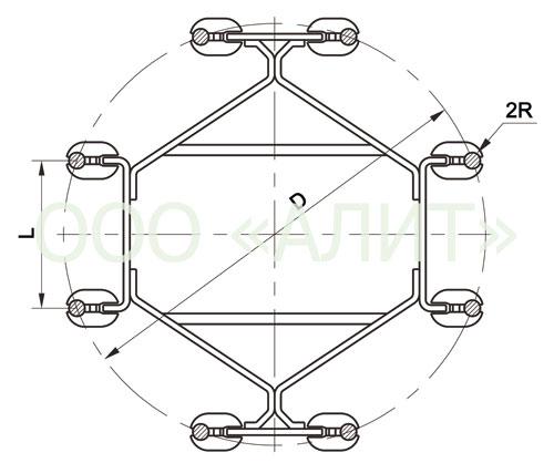 image2 - Распорки глухие восьмилучевые 6РГ, 8РГ