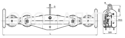 image2p4r - Подвесы многороликовые типа П4Р, П6Р