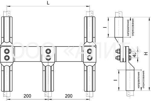 ppr39 - Зажимы соединительные переходные петлевые ППР