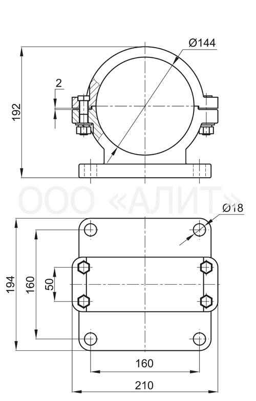 zazhim opornyj aa 210 - Зажим опорный АА-210