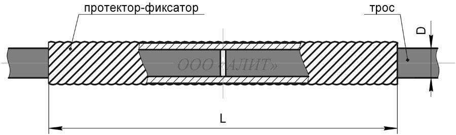 zazhim spiralnyj remontnyj sr dpr 2a - Зажим спиральный ремонтный СР-Dпр-2А