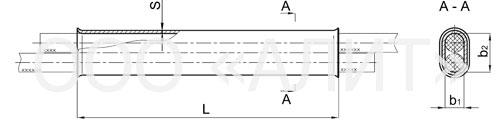 SOAS - Зажим соединительный овальний СОАС-50-3