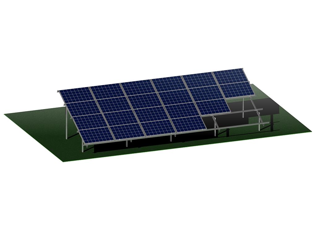 4 paneli - Опорные металлоконструкции для ФЭ панелей