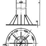Стойка для шинных опор 750 кВ трубного типа